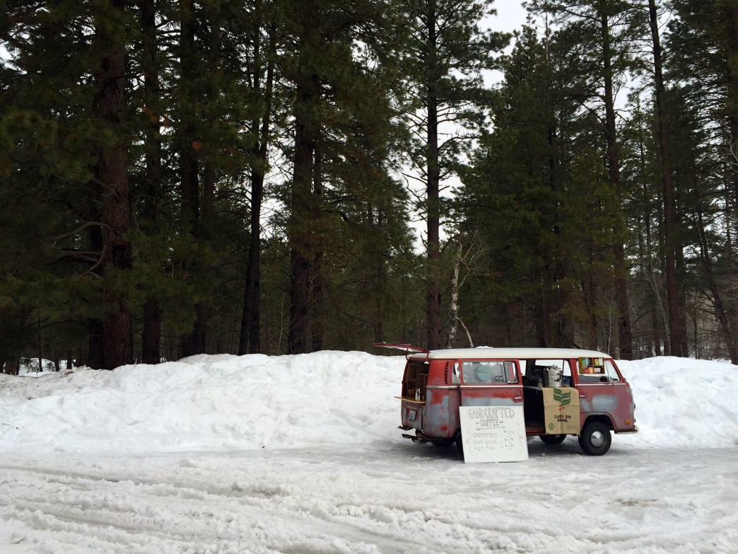 The coffee van is an iconic sight at the base of the trail.
