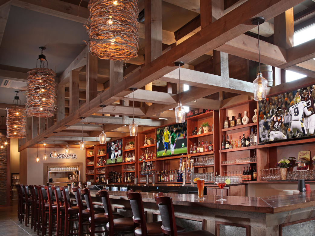 Chester Brunnenmeyer's rustic bar is a great lunch stop.