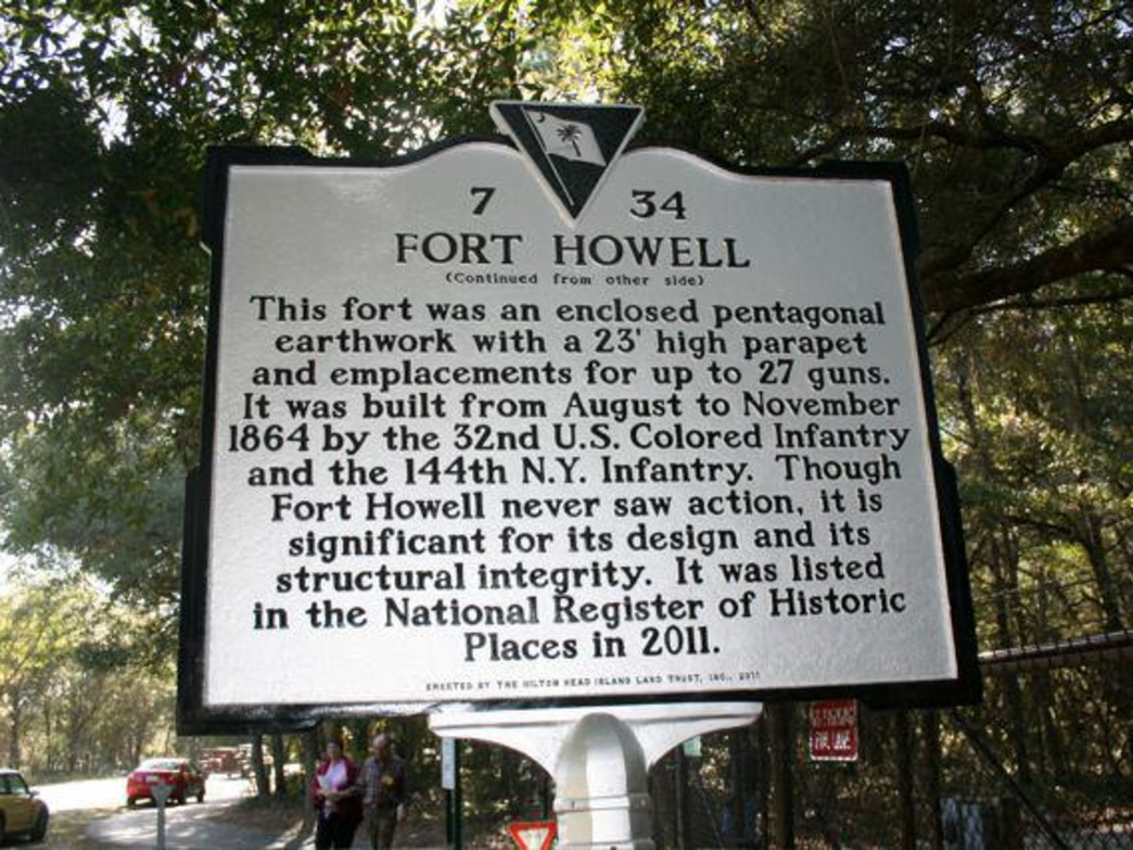 Fort Howell was recently listed as a National Historic site