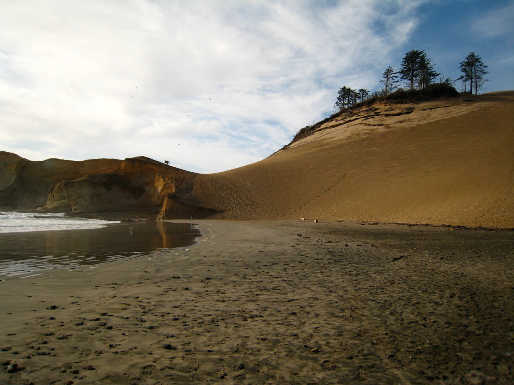 The sandy shores of Cape Kiwanda.
