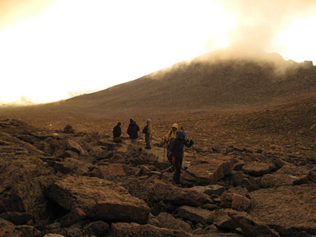Early morning at the boulder field.