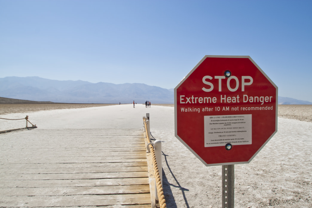 Summer temperatures in Death Valley are no joke.
