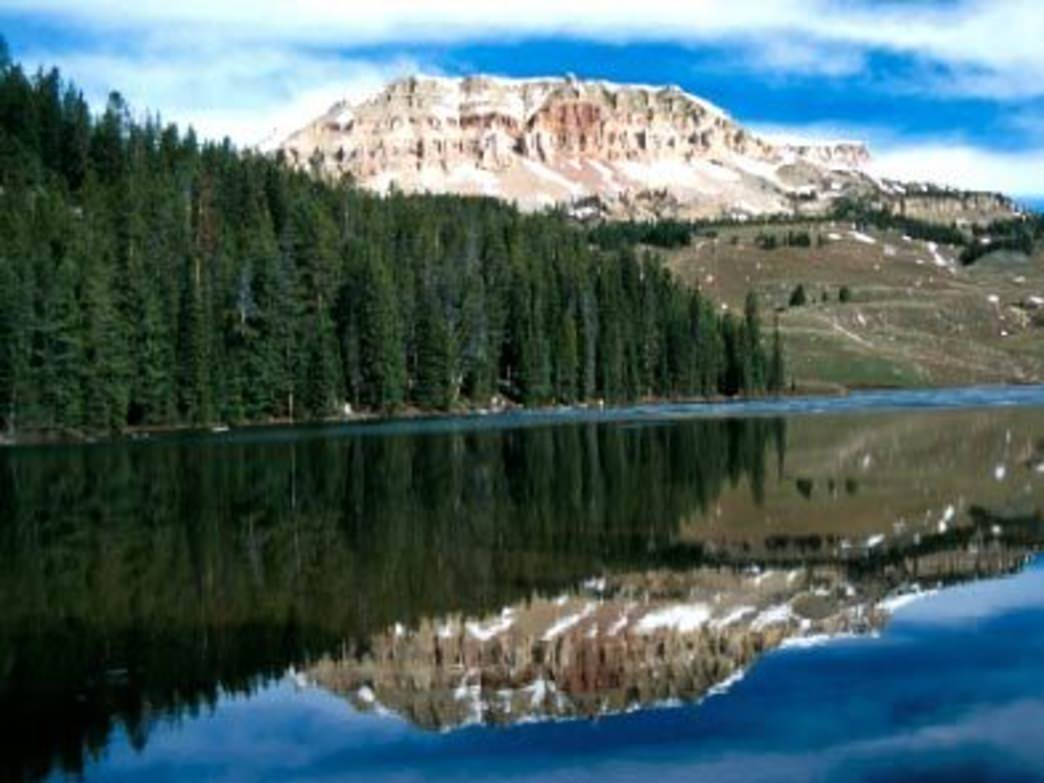 Beartooth Lake is a popular spot for fishing.