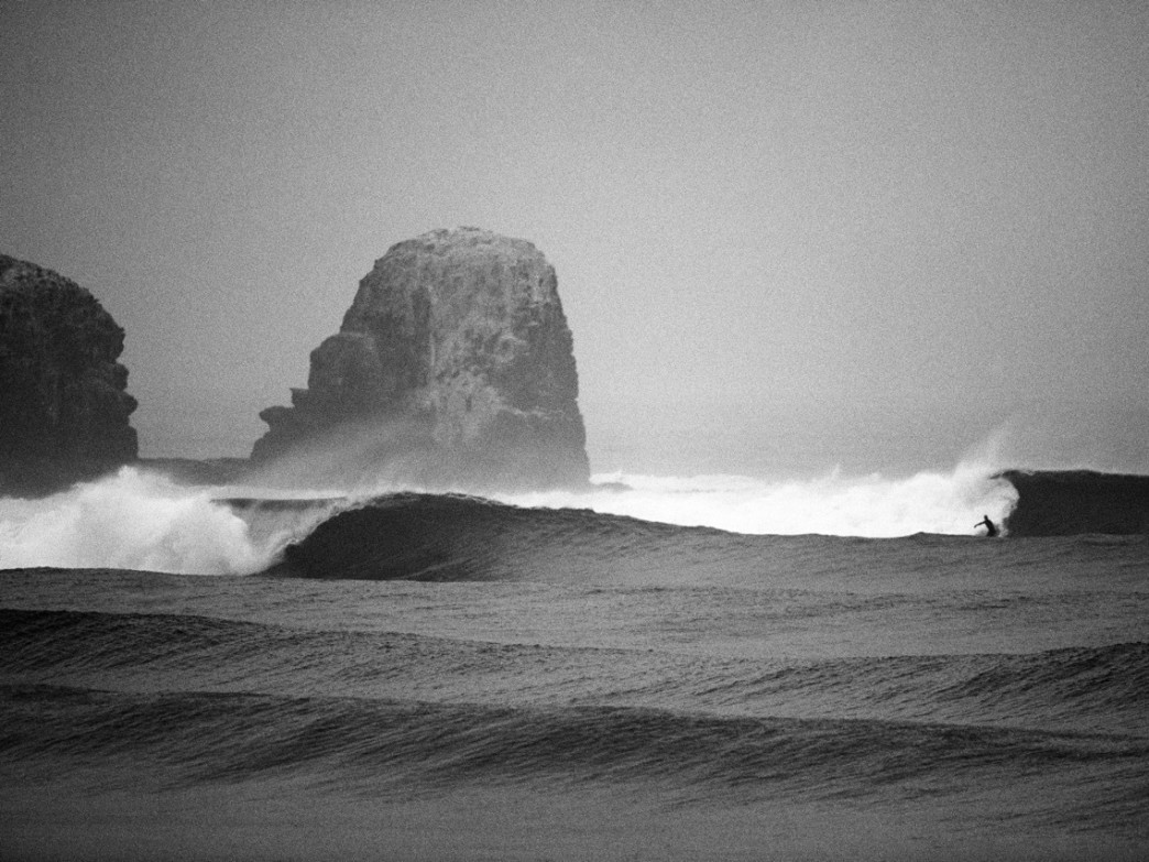 Shot on film while working for Patagonia a number of years back, this photo of Punta Lobo in Chile is one of Aroyan's most sought after prints.