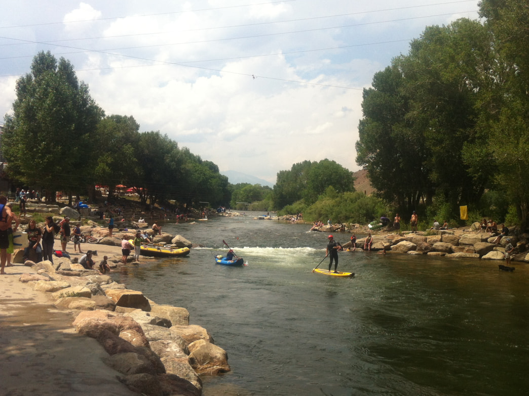 The Salida Whitewater Park has lots of easy river access.