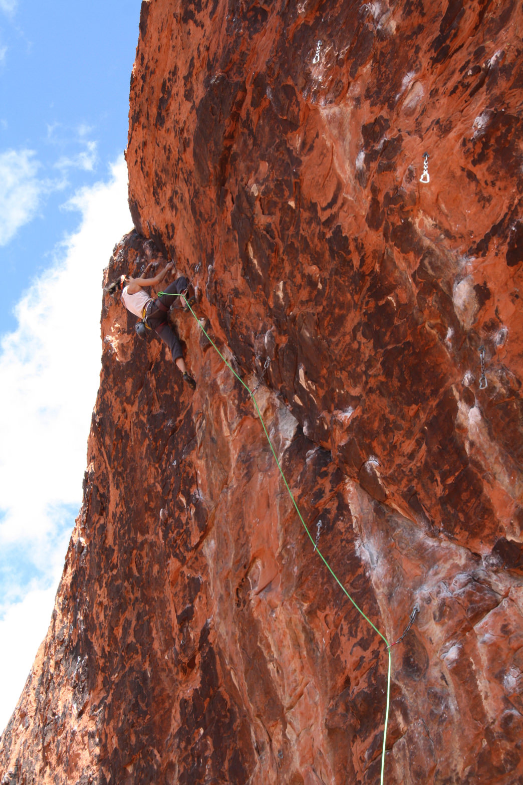 Sport climbing at Calico Basin in Red Rocks.     Jenna Herzog