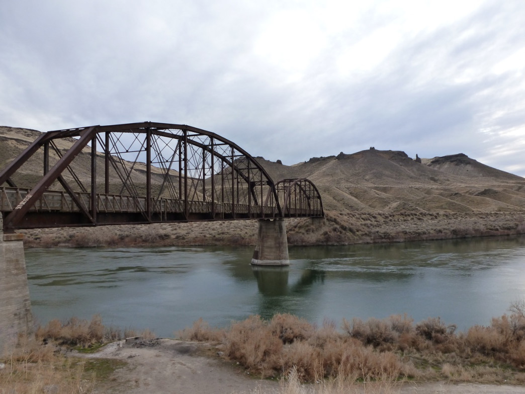 The Guffey Bridge was saved after it was abandoned by the railroad and is now a major river crossing for hikers and mountain bikers in the Snake River Canyon.