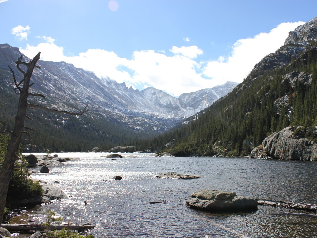 Mills Lake in Rocky Mountain National Park is a sight to behold.