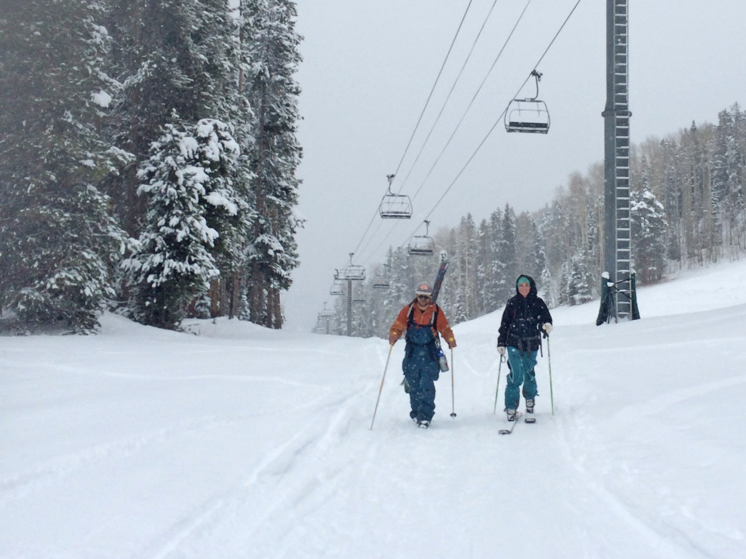Head to Aspen Highlands, just west of downtown Aspen, to find great terrain on the skin up and the ski down.