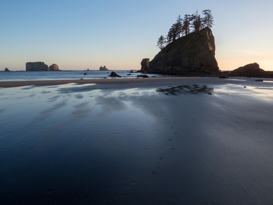 Second Beach in Olympic National Park.