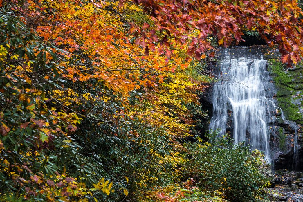 This waterfall is especially pretty in the fall.