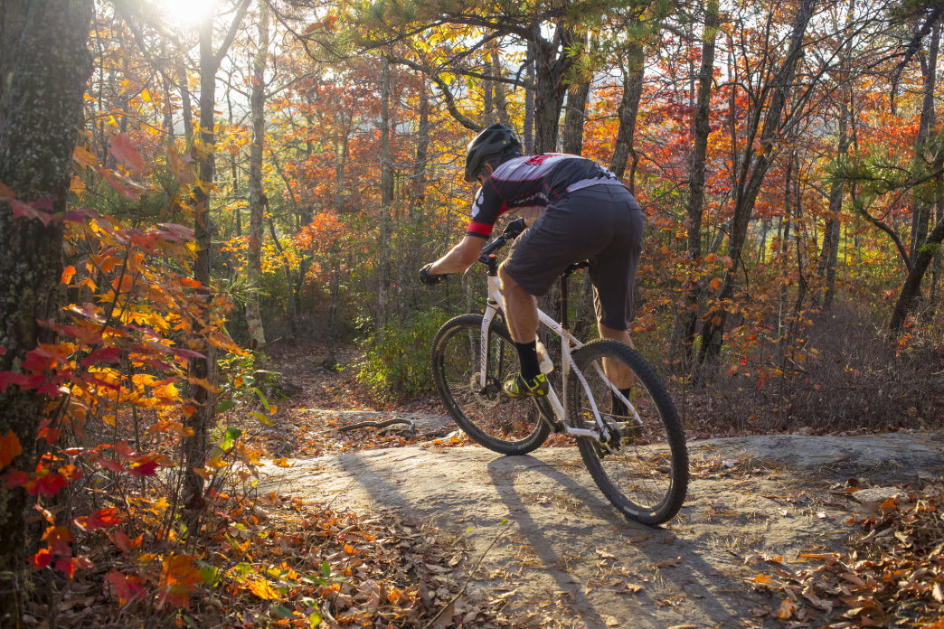 Fall is a great time for mountain biking in North Carolina.