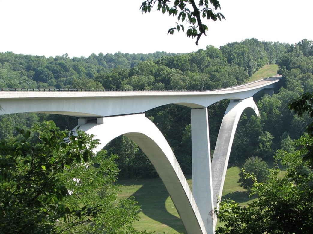 The historic Natchez Trace bridge.