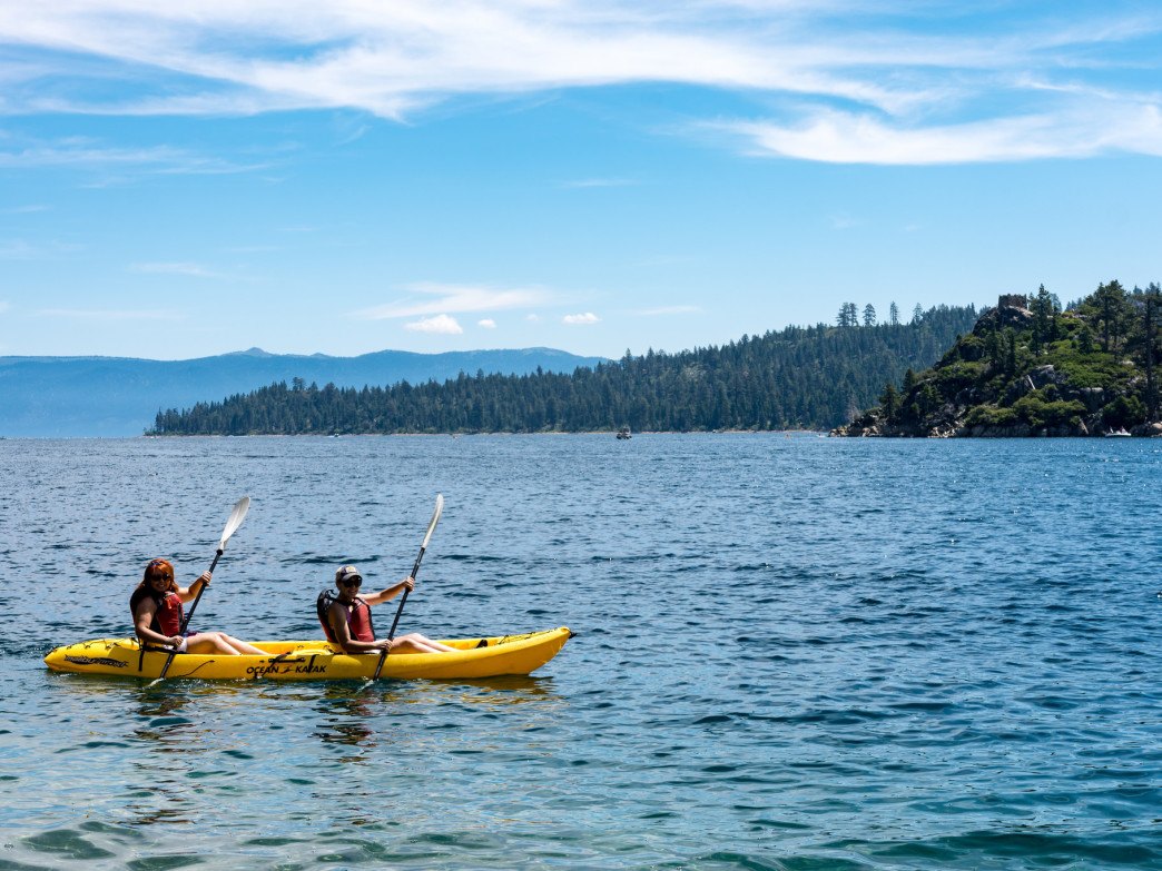 Paddling on Lake Tahoe is a sublime way to celebrate spring.