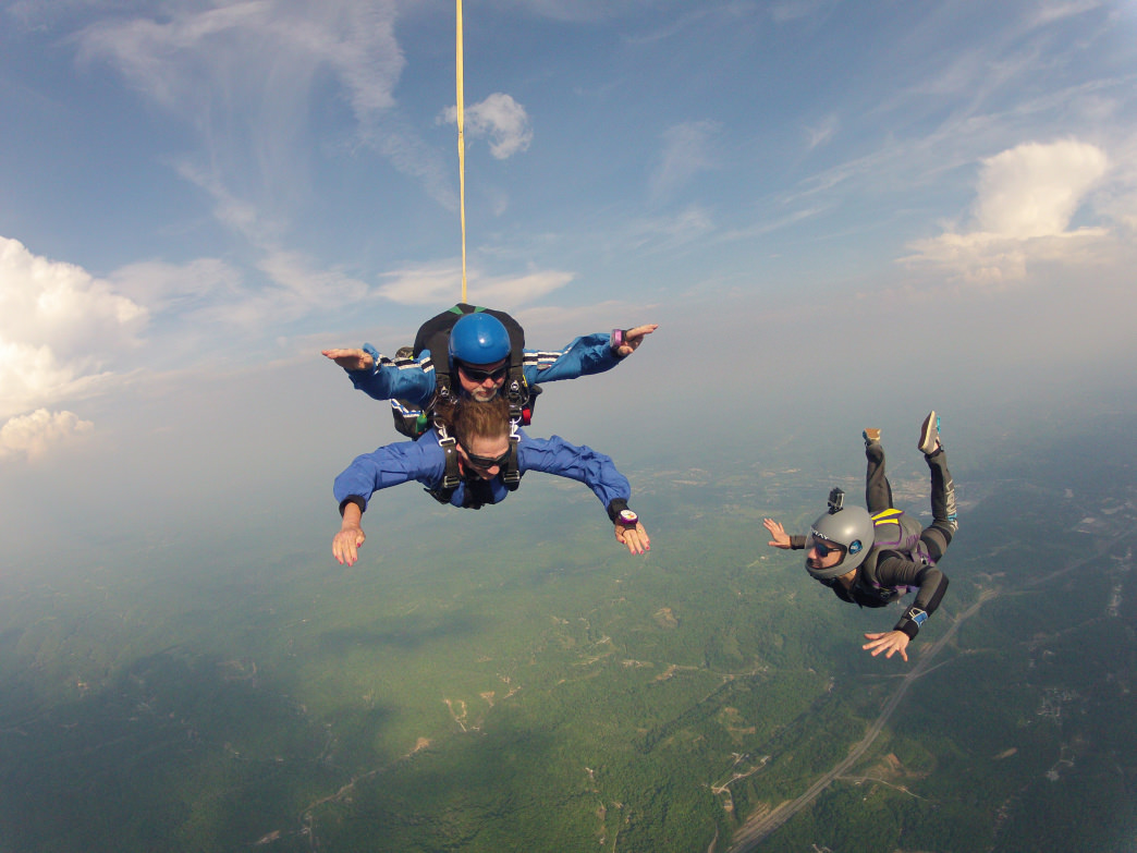 Skydive with a certified instructor at WV Skydive.     Ellen Weed