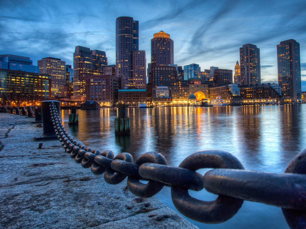 Night falls, and the City of Boston comes alive.