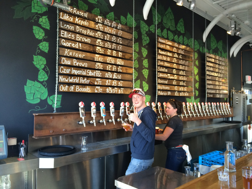 The tap room at Avery Brewing Company has 30 cold brews on tap.