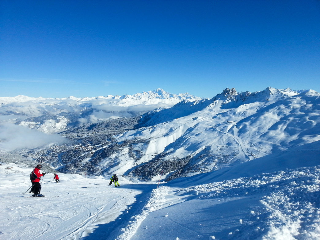 Skiers in France typically take more time to pause and enjoy the scenery and alpine amenities