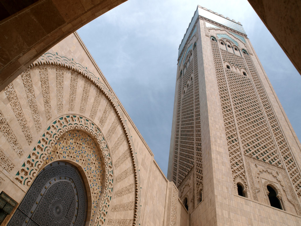 Casablanca's Hassan II Mosque is a modern architectural gem.