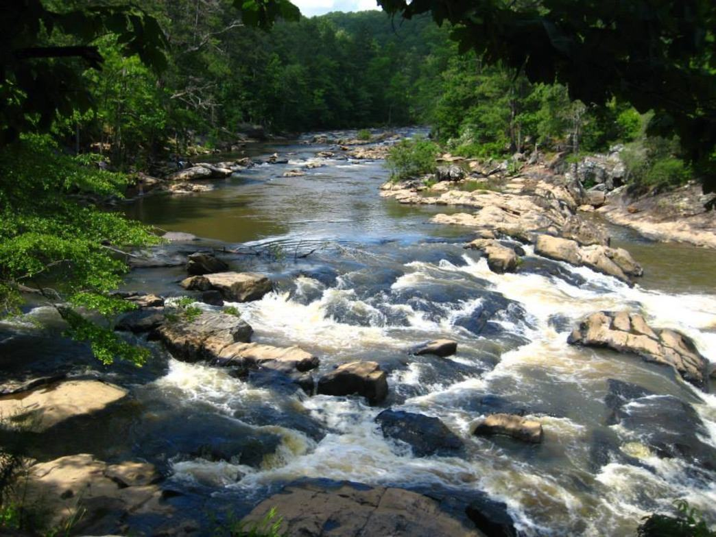 Part of The Hunger Games was filmed at Sweetwater Creek State Park.