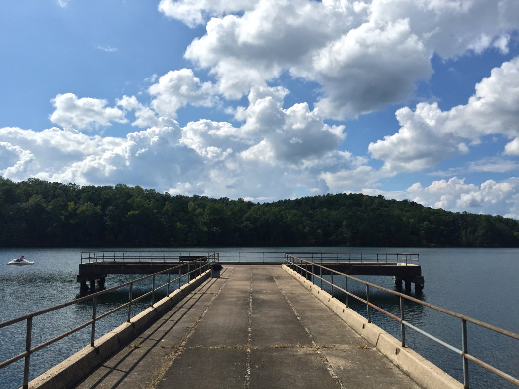 The view from the dock of Lake Lurleen.
