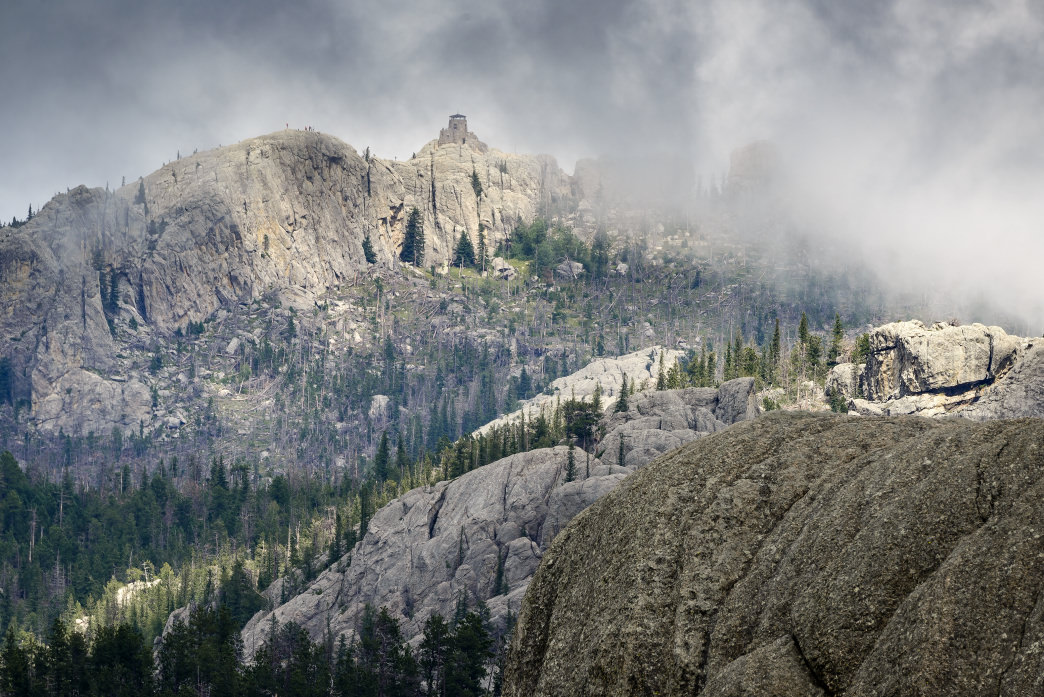 Getting to the summit of Black Elk Peak, the highest point in South Dakota, is a challenging hike, but well worth the effort.