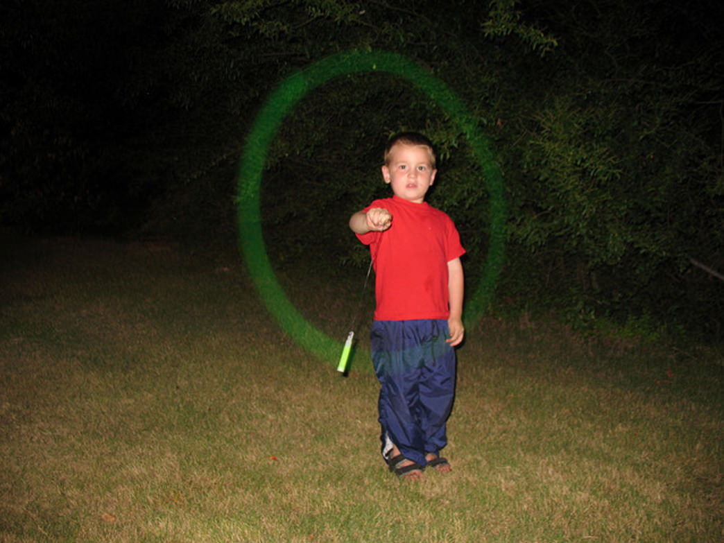 Break out the glowsticks for some kid-friendly campsite fun.