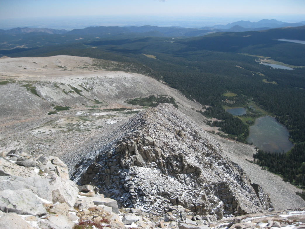 A spring ascent along the southeast ridge, featuring a light dusting of snow.      James Dziezynski