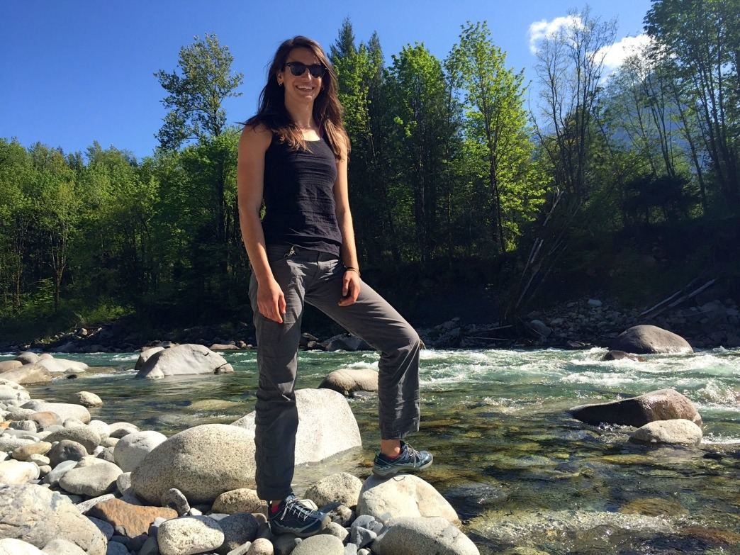 Exploring the banks of the Skykomish River