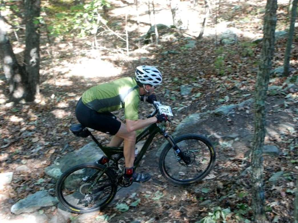Both serious and beginning mountain bikers have trail options in the park.