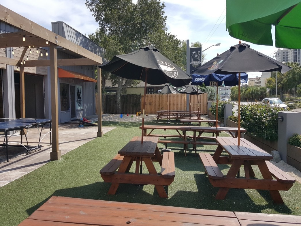 A great outdoor area for tasting craft beer