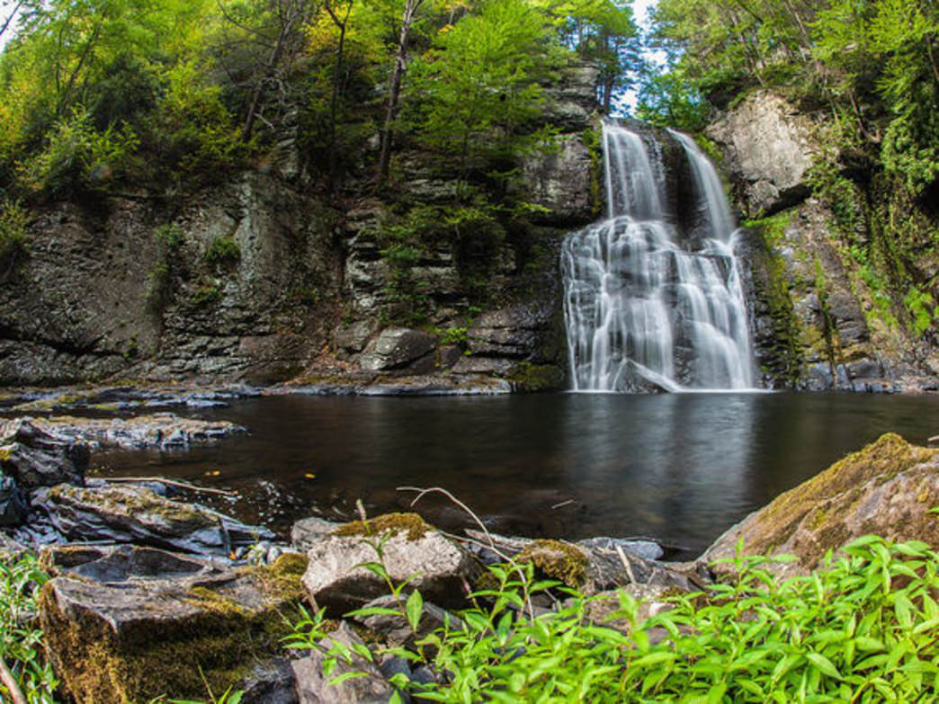 Visitors can see eight major falls when visiting Bushkill Falls.