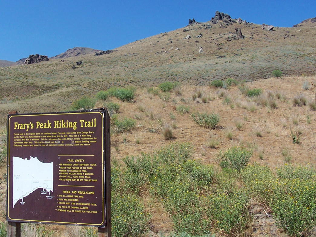 Make a point to get to the summit of the 6,596-foot Frary Peak this summer.