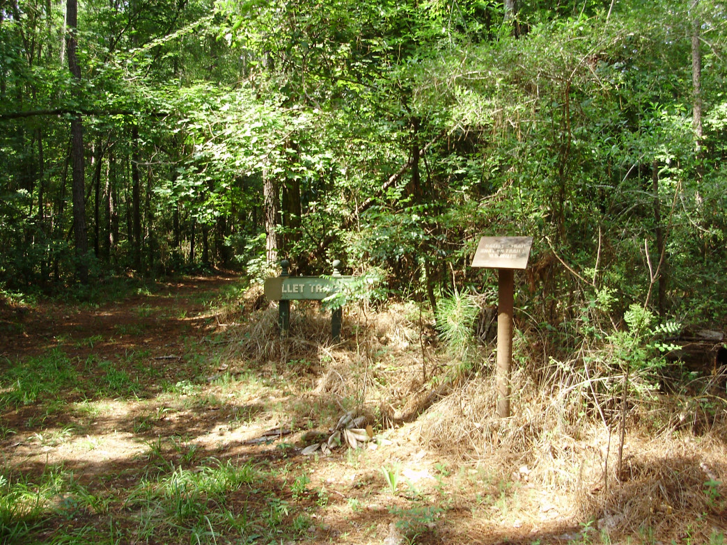 The Hallet's Trail and Old Appalachee Trail begin at the parking area.