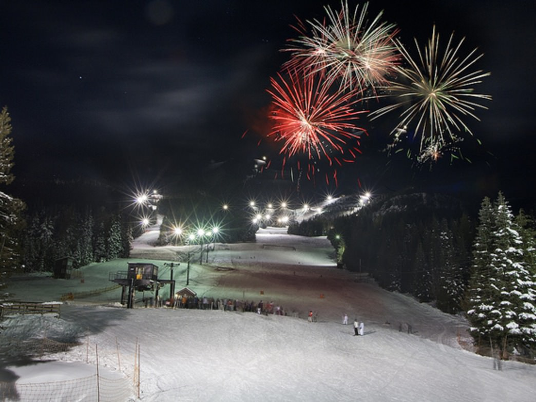 Night skiing at Mt. Hood Skibowl—sometimes in the shadow of fireworks—is a popular activity with Portland-area thrill-seekers.