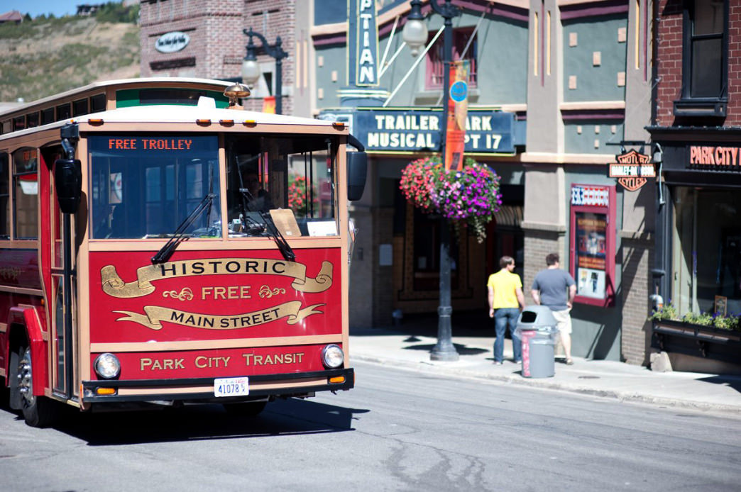 Take advantage of the free trolley up and down Historic Main Street.