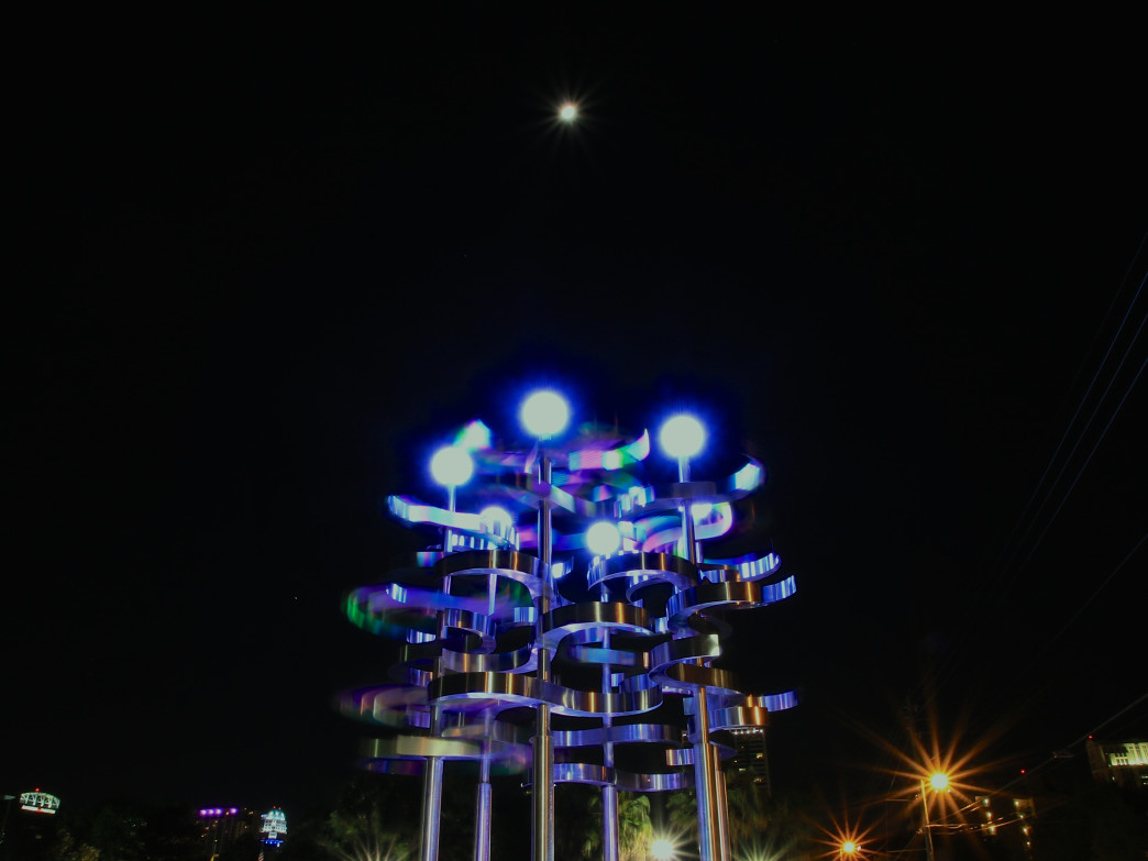 """Union"" art sculpture by Lake Eola in Downtown Orlando."