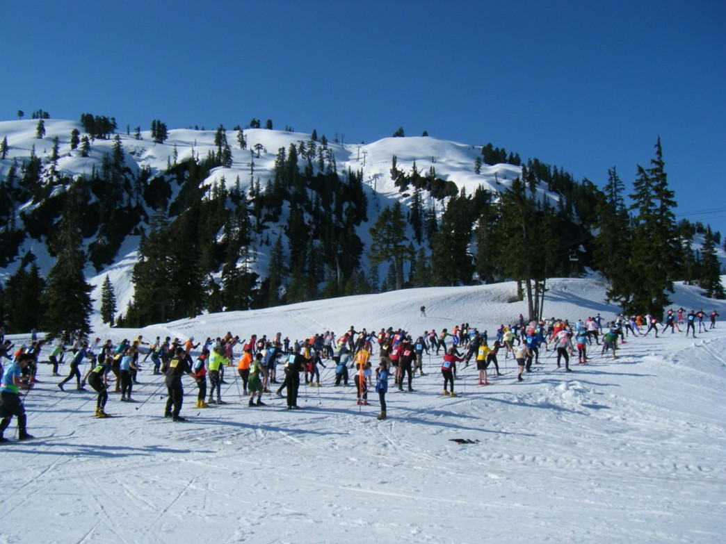 The cross-country course at Ski to Sea.