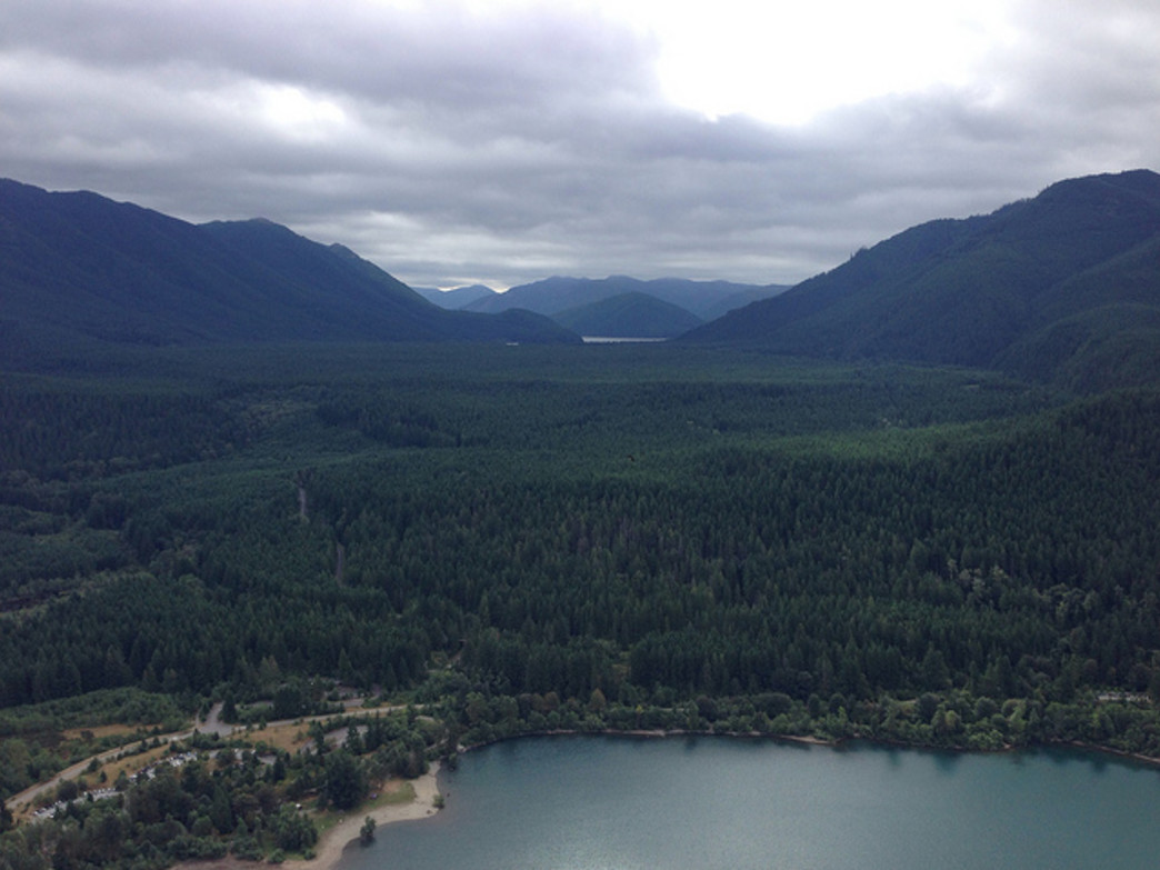 Looking down on Rattlesnake Lake from Rattlesnake Ledge.