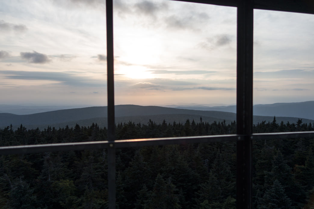 The view from the abandoned Glastenbury fire tower.