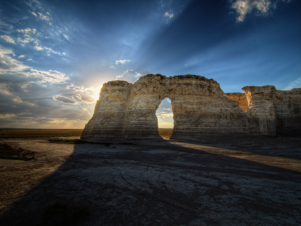 Monument Rocks is an iconic landmark in Kansas.