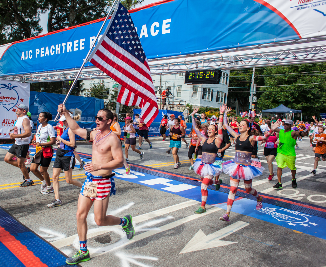 The ultimate guide to the peachtree road race for The peachtree