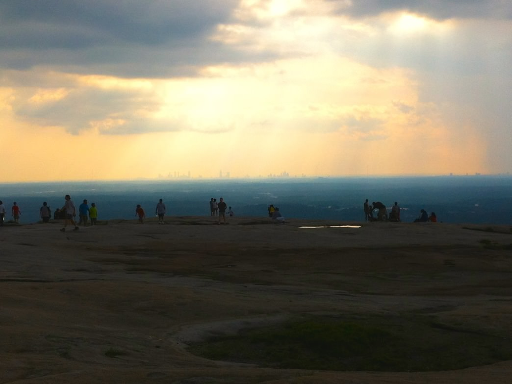 Stone Mountain at sunset.