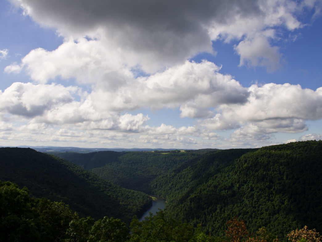 The overlook at the Cheat River Gorge is well worth the hike.
