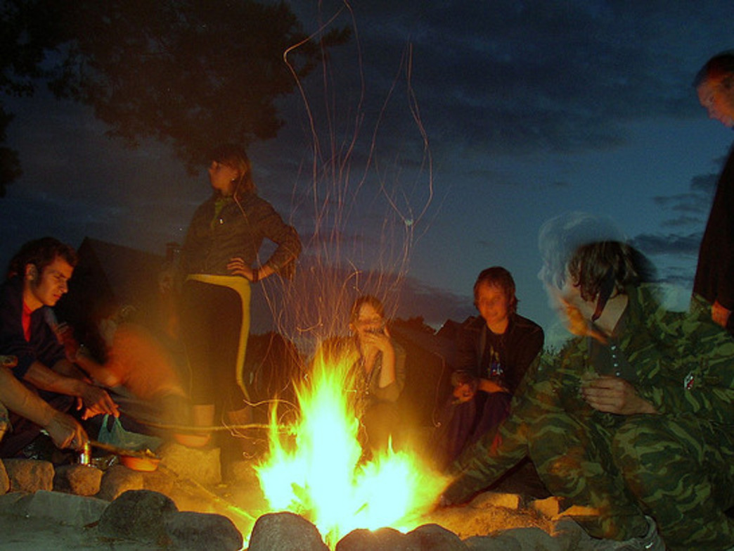 Celebrate the never-ending days of summer with a bonfire or campfire.
