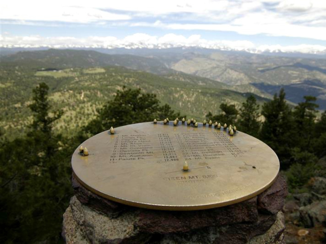 The view from Green Mountain's flat summit