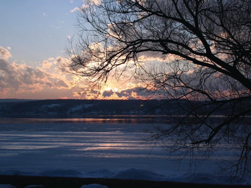 Enjoy breathtaking sunsets from the Finger Lakes Trail.