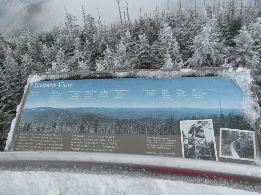 Snowshoeing at Clingman's Dome, Great Smoky Mountains National Park.