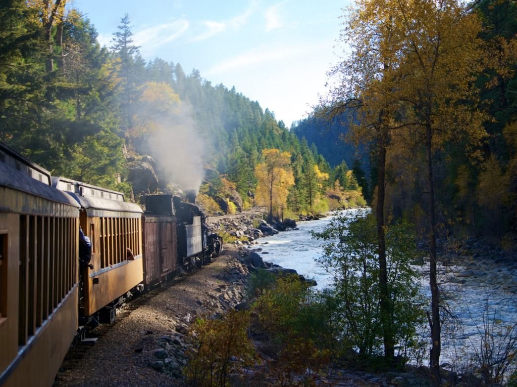 Taking the Durango Silverton Train straight to the trailhead