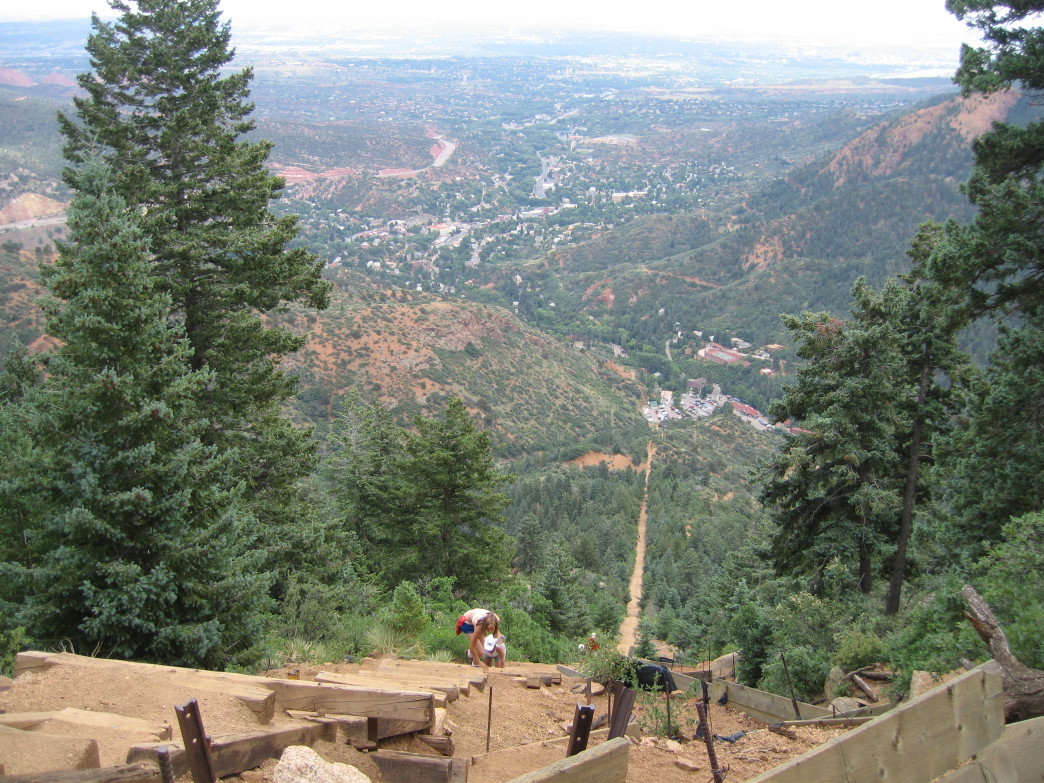 Manitou Incline, Colorado Springs, Colorado.